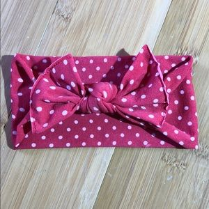 Baby Bling Bows Printed Knot Red Dot